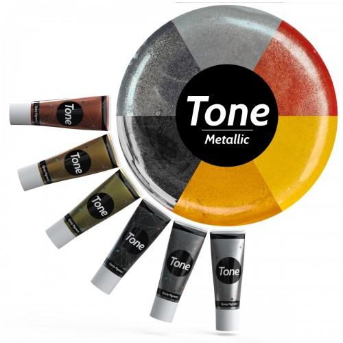 Tone Metallic Epoksi Renk Pigmenti Seti Metalik Renkler 6x25 ml