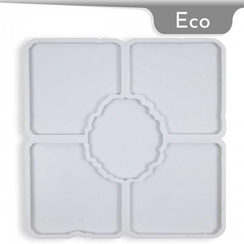 Mold-it Eco Bardak Altlığı Kare Geode Silikon Kalıbı